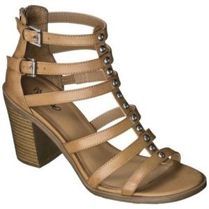 Brown comfy, caged, brown block heel